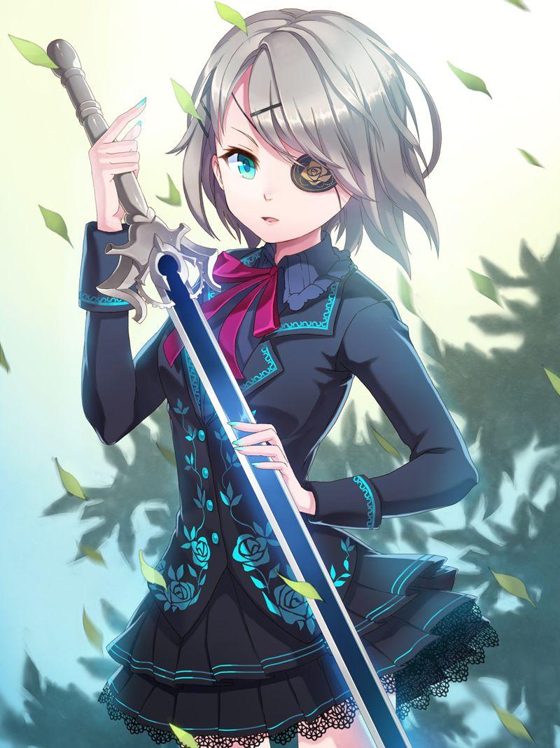 Anime Characters Katana : Iri flina sword girls anime stuff pinterest