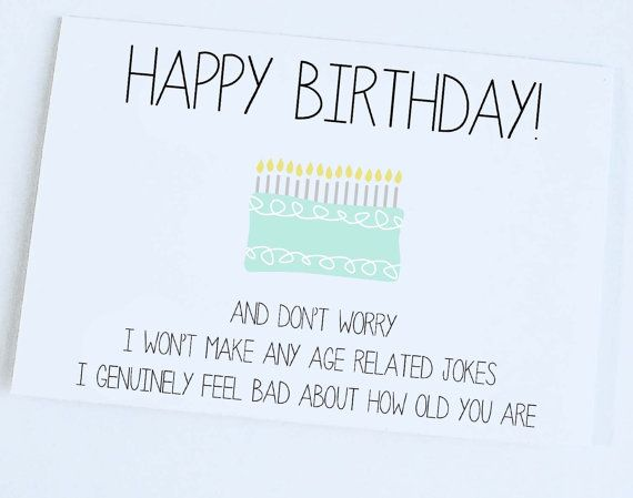 Funny Birthday Card by ColorfulDelight on Etsy 300 – Birthday Card Jokes