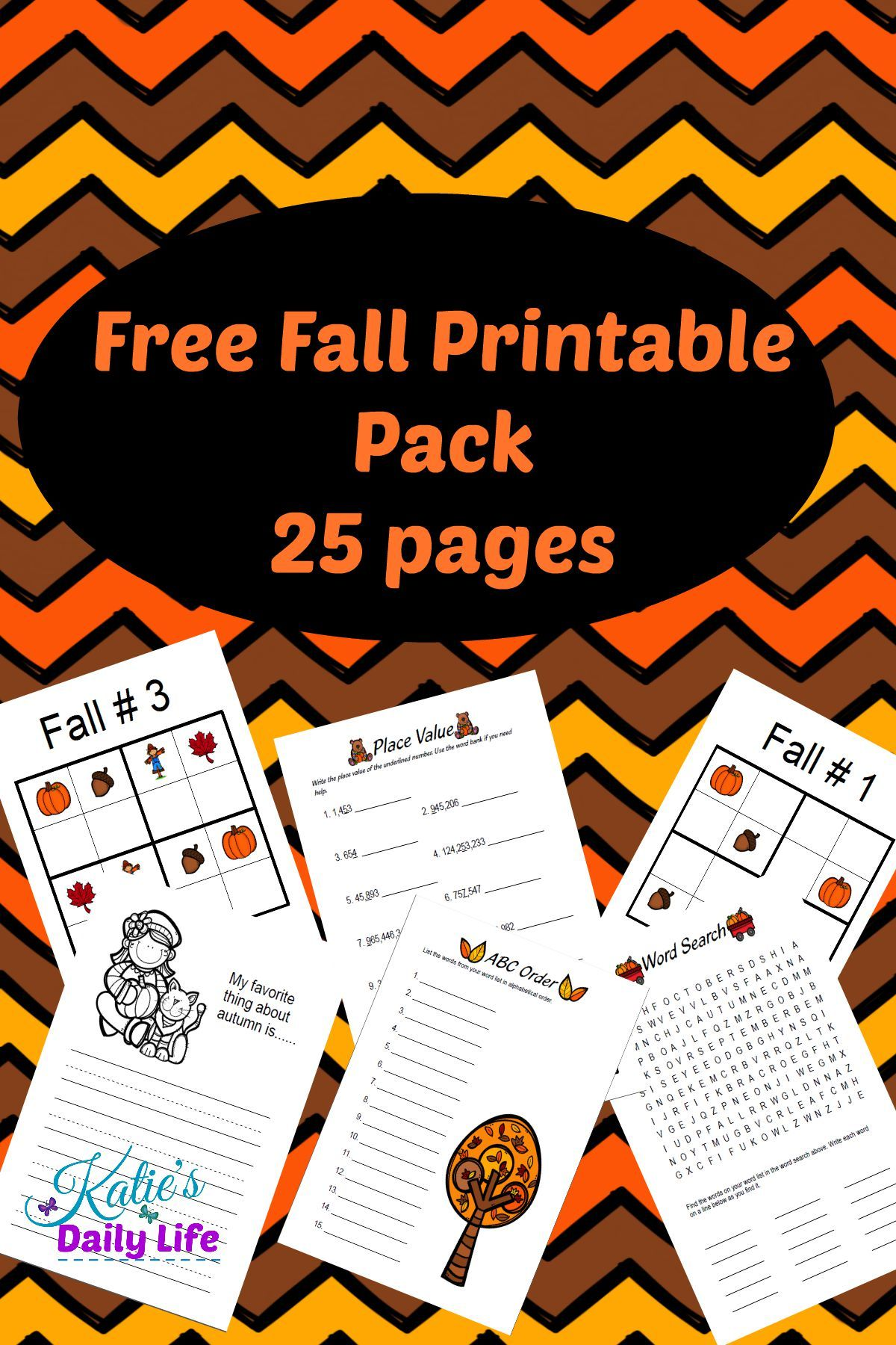 This Free Fall Printable Pack Is A Great Way To Add Fun To