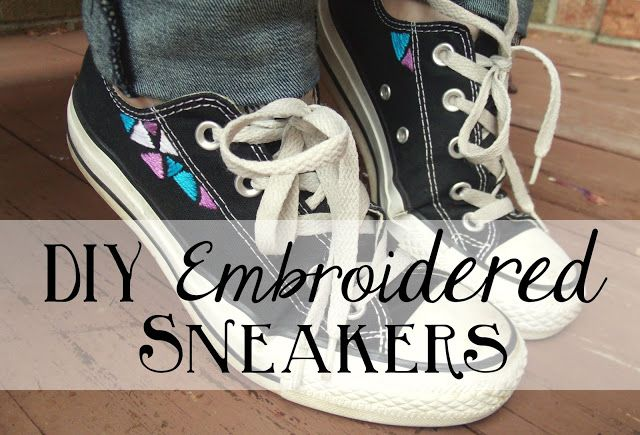Sincerely, Sara | Inspiration Is Everywhere...: DIY: Embroidered Sneakers + $40 Target Giveaway!