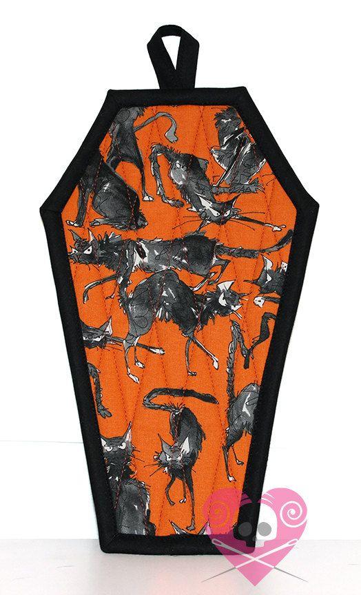 Sebastian Ghastly Coffin Pot Holder by XO by XOSkeletonCreations