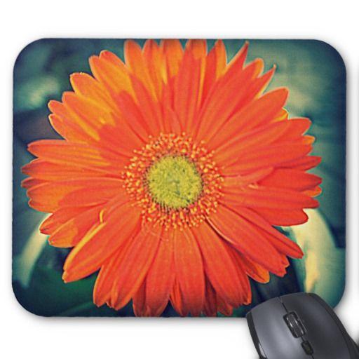 Orange Gerbera Mousepad