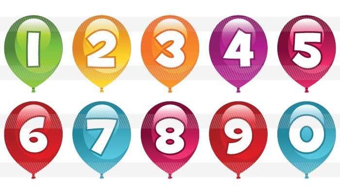風船の中にある可愛い数字0123456789 数字 フォント かわいい 誕生日 画像 おもしろ フォント かわいい
