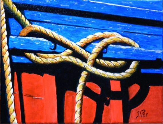 tableau peinture bateau p che cordages amarres marine acrylique amarres jean louis. Black Bedroom Furniture Sets. Home Design Ideas