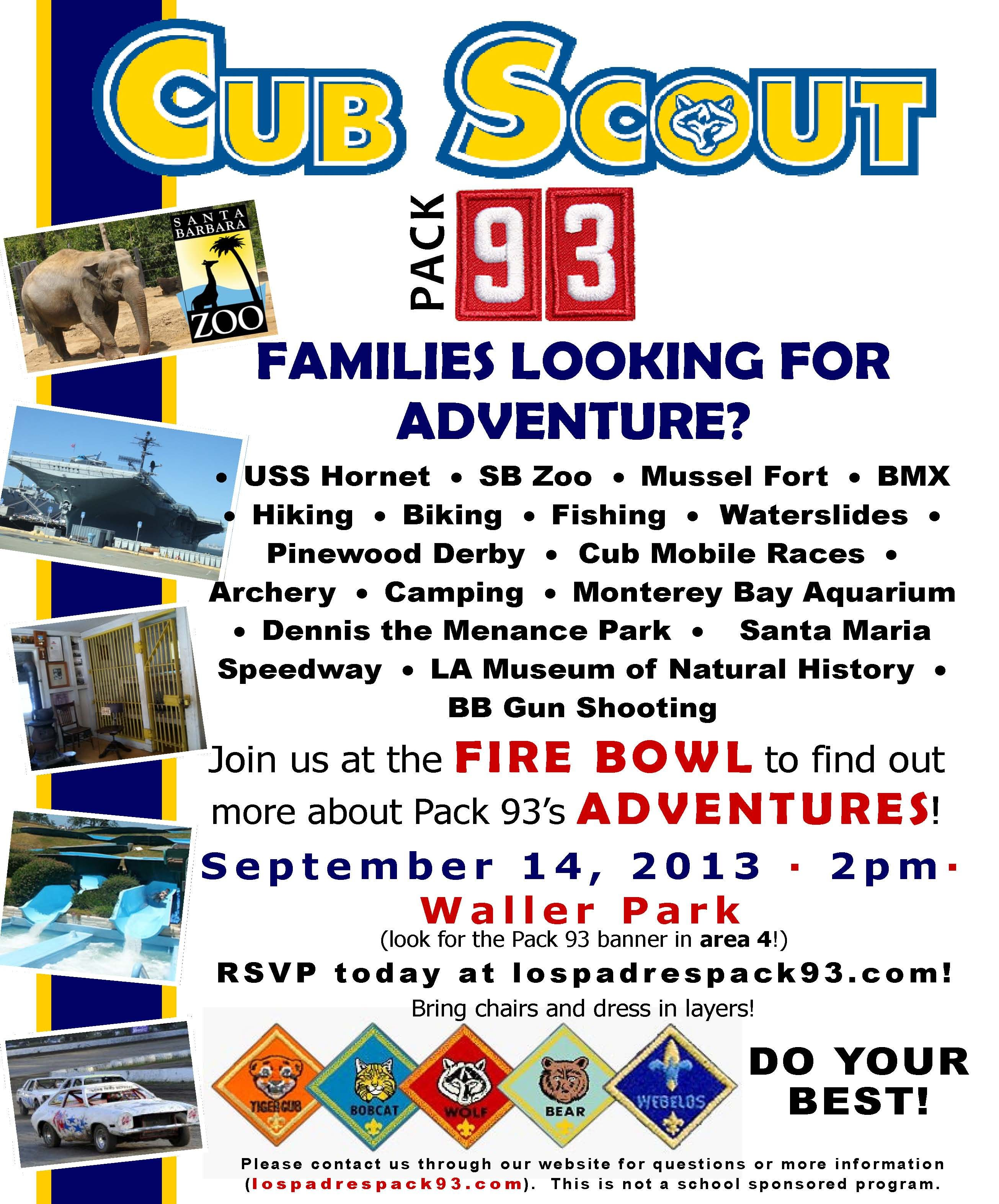Cub Scout Recruiting Flyer | cub scout pack 360 | Pinterest ...
