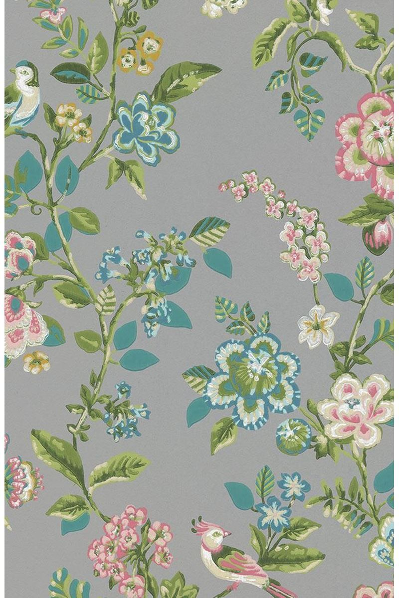 Botanical Print wallpaper grey Print wallpaper, Brewster