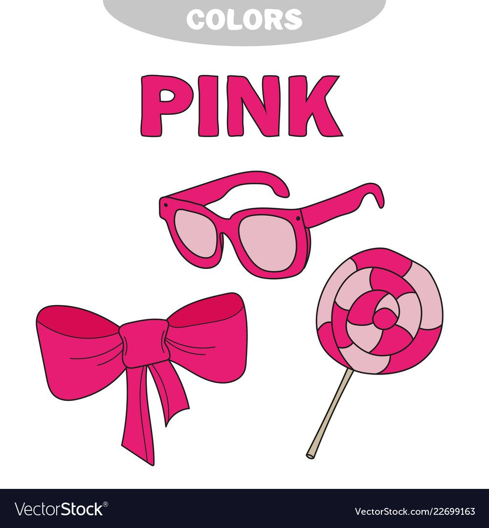 Learn The Color Pink Things That Are Pink Color Vector Image On