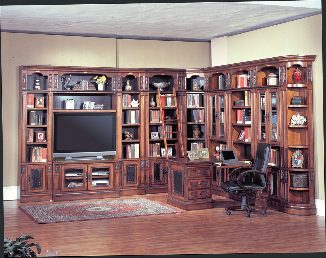 Parker House Davinci Library Wall System Traditional Living Room Furniture Parker House Traditional Bedroom Furniture