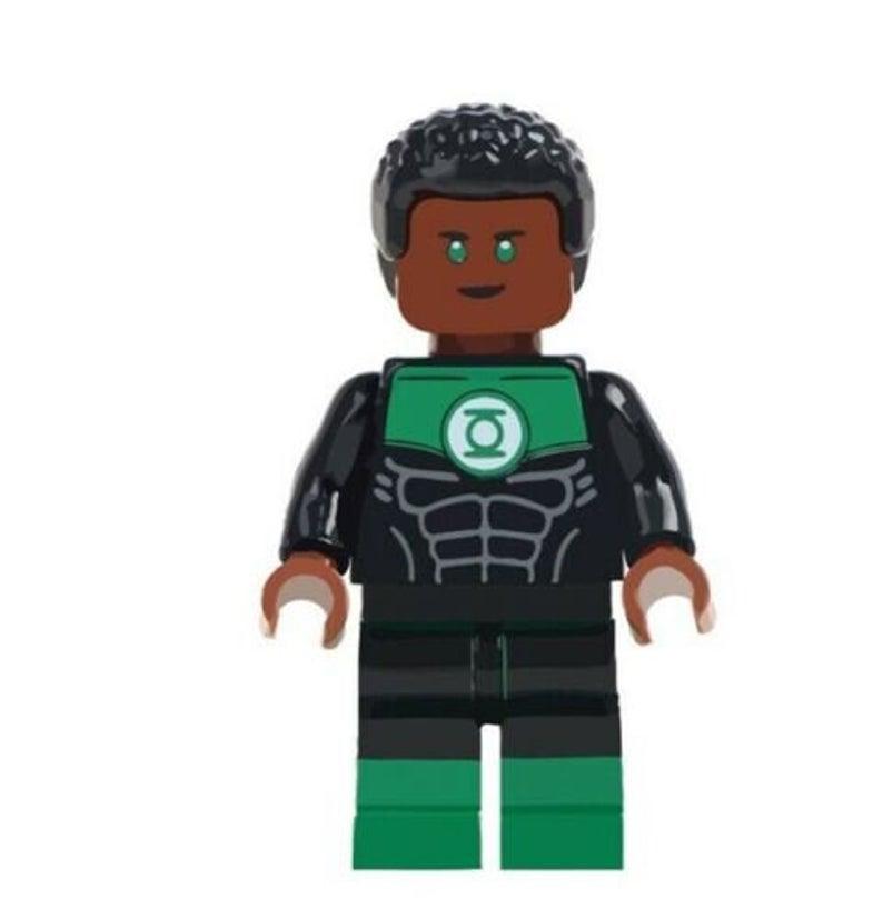 John Stewart Green Lantern Dc Comics Custom Minifigure Fits Etsy Star Wars Toys John Stewart Kids Toys