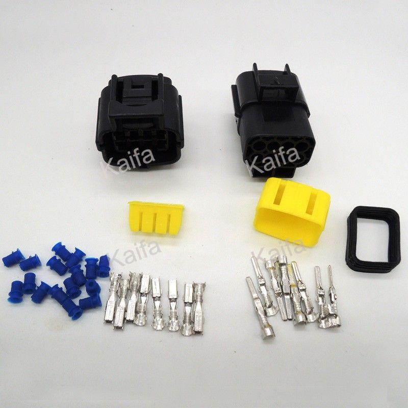 1 satz 8 Pin Way Wasserdichte Draht-anschluss Stecker Auto Auto ...