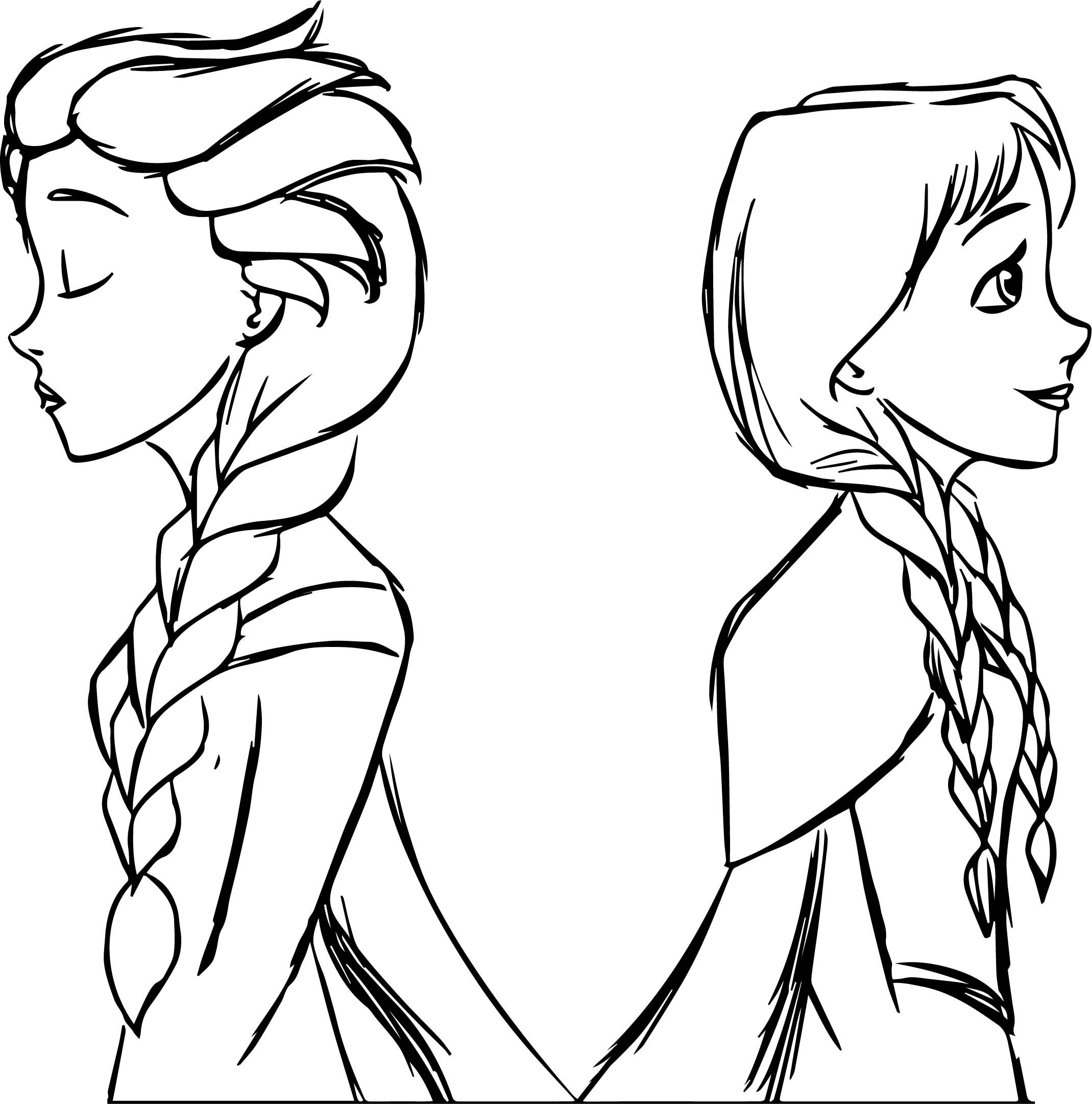 Cool Elsa And Anna Frozen Sketch Coloring Page Frozen Painting Coloring Pages Avengers Coloring