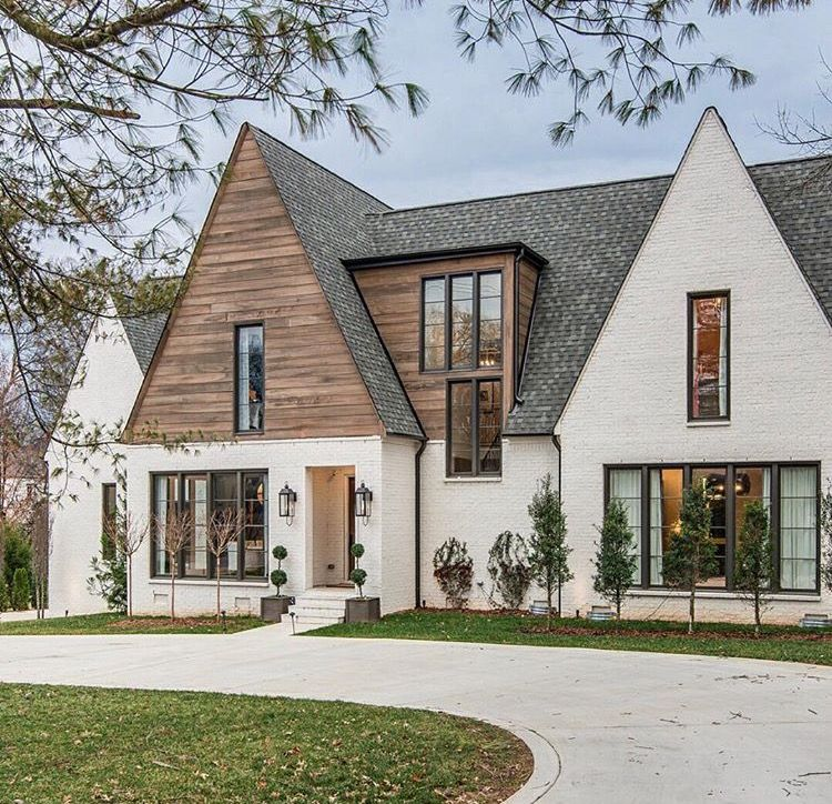 Modern Homeexterior Design Ideas: Love The High Pitch Roof, Wood Horizontal Planks, And The