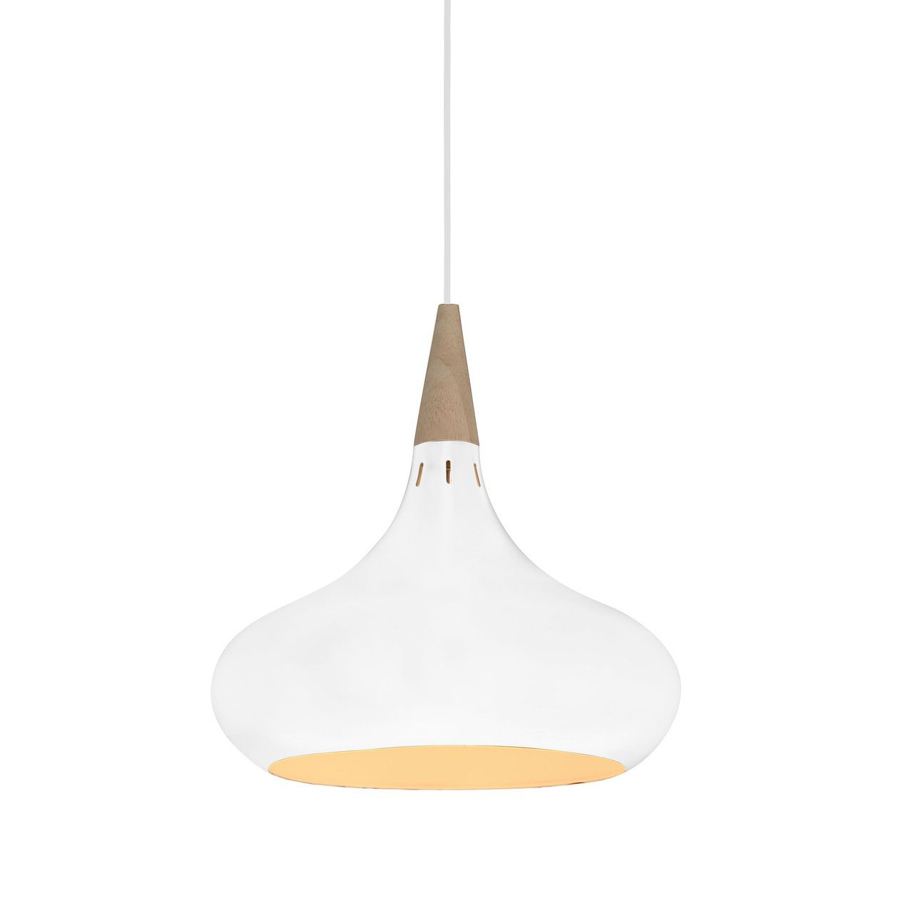manarola led pendant light in white aluminum led pendant