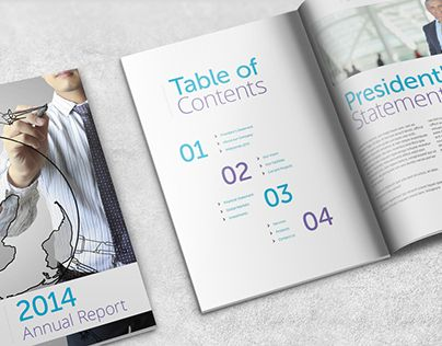 Check Out This Behance Project Annual Report Template  A