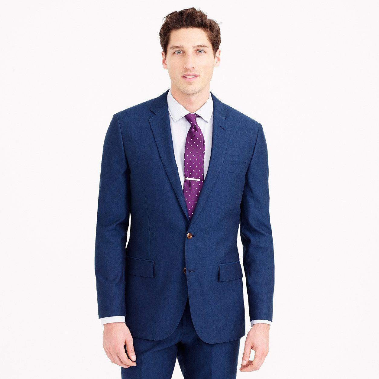 5b5822f75ba J.Crew Mens Ludlow Suit Jacket In Italian Cotton Oxford (Size 36 Regular)