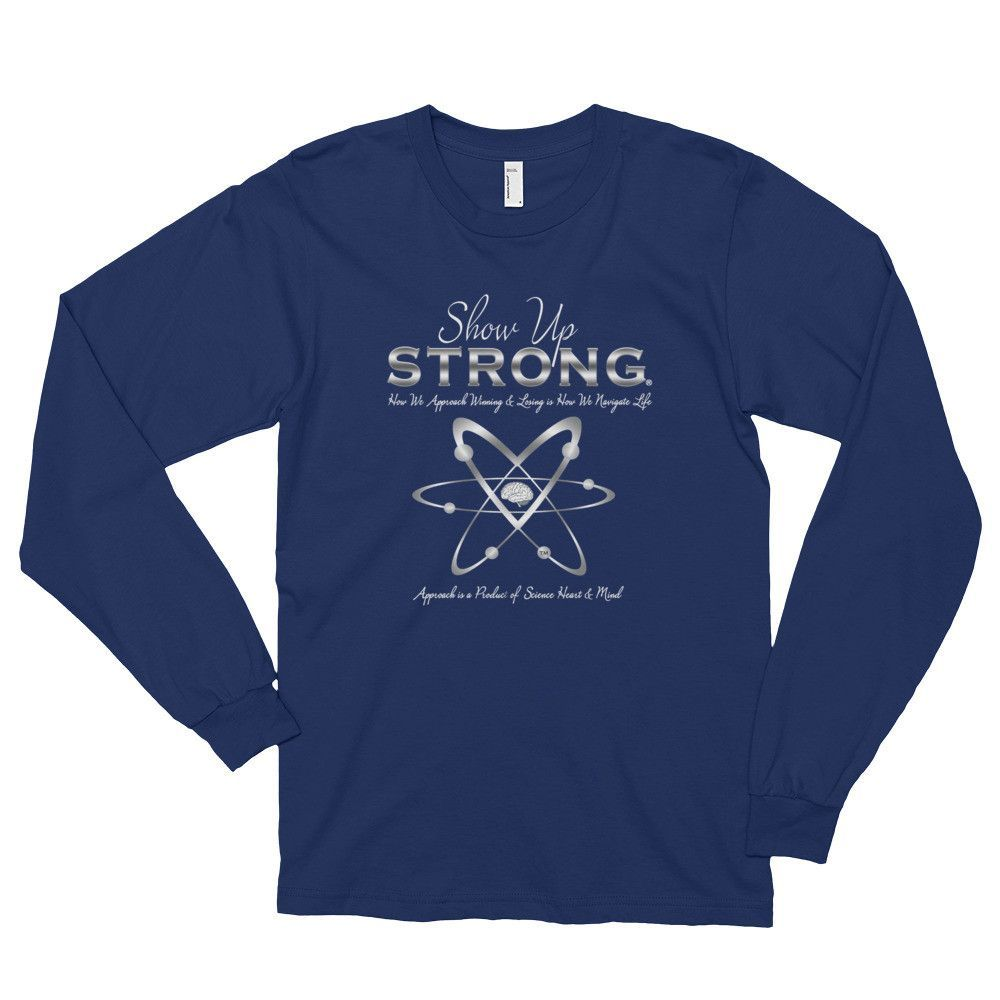 Long sleeve t-shirt (unisex) - Show Up Strong - Silver