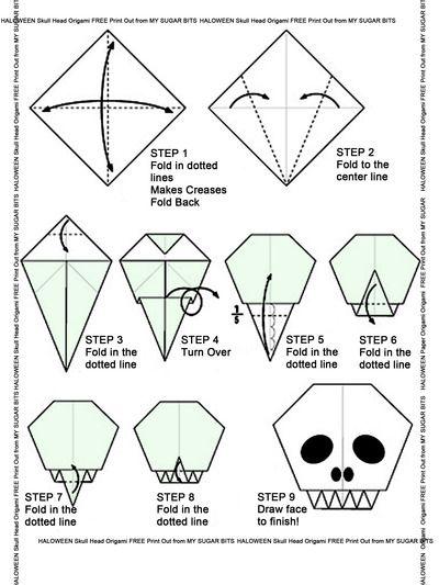 Tremendous Halloween Origami Skull Head Dia De Los Muertos Halloween Skull Wiring Database Wedabyuccorg