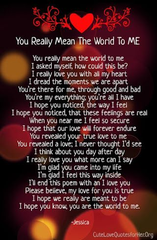 you mean so much to me poems | Love yourself quotes, Love