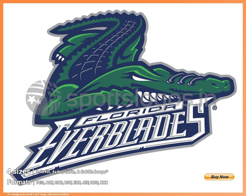 Florida Everblades Hockey Sports Embroidery Logo In 4 Sizes Spln001496 In 2020 Sports Team Logos Hockey Logos Sport Hockey