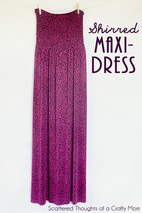 Maxi Kleid mit gesmoktem Oberteil I sicher auch gekürzt als Rock zu ...