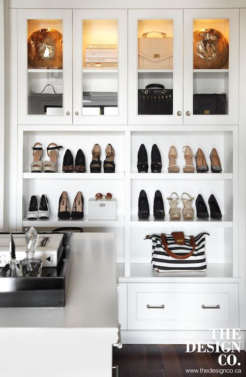 Amazing Walk In Closet Built In Cabinets With Custom Lighting