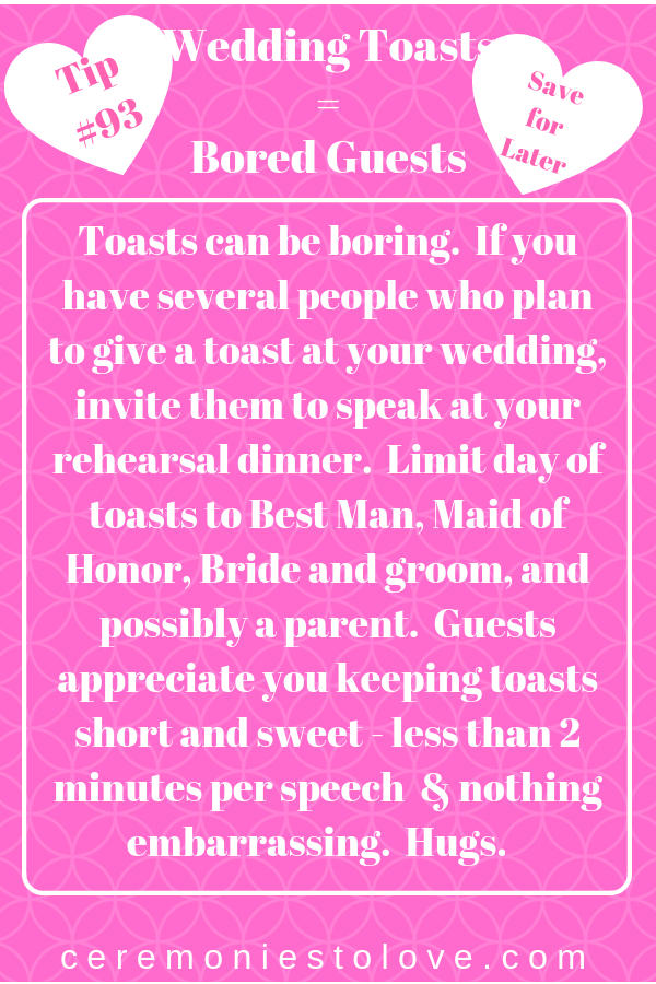 Brides Look Forward To The Toasts At Their Wedding Reception And All