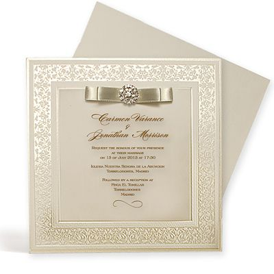 Wedding Invitation Samples Imperial Style Weddingsoon