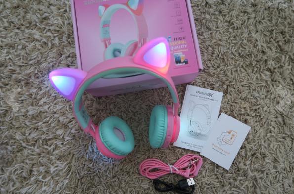 Hello Kitty Folding Over-Ear Headphones for Kids Boys Girls Children Teens Adult