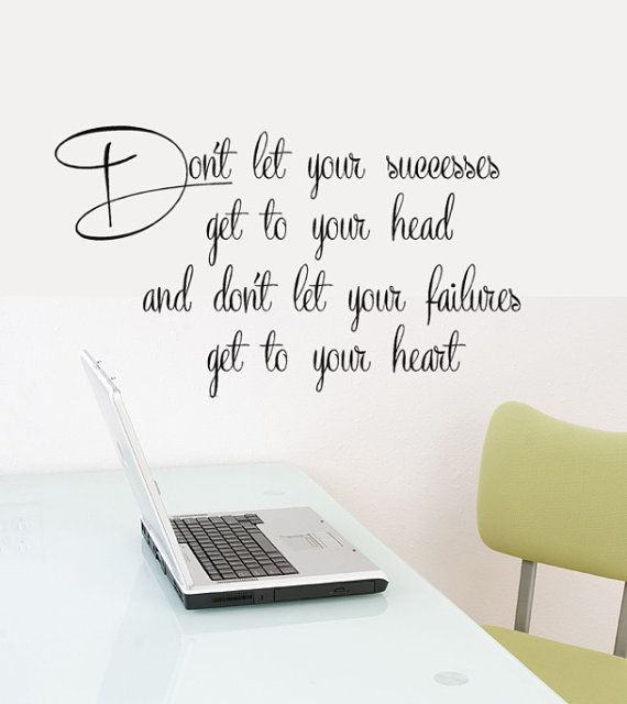 Office Decor Wall Decal Words Success Quotes  Long X  Tall - Inspiring vinyl wall decals abstract
