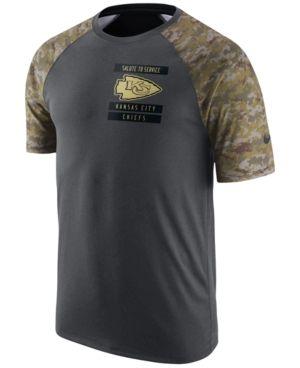 469cd076373 Nike Men's Kansas City Chiefs Salute to Service T-Shirt - Silver S ...