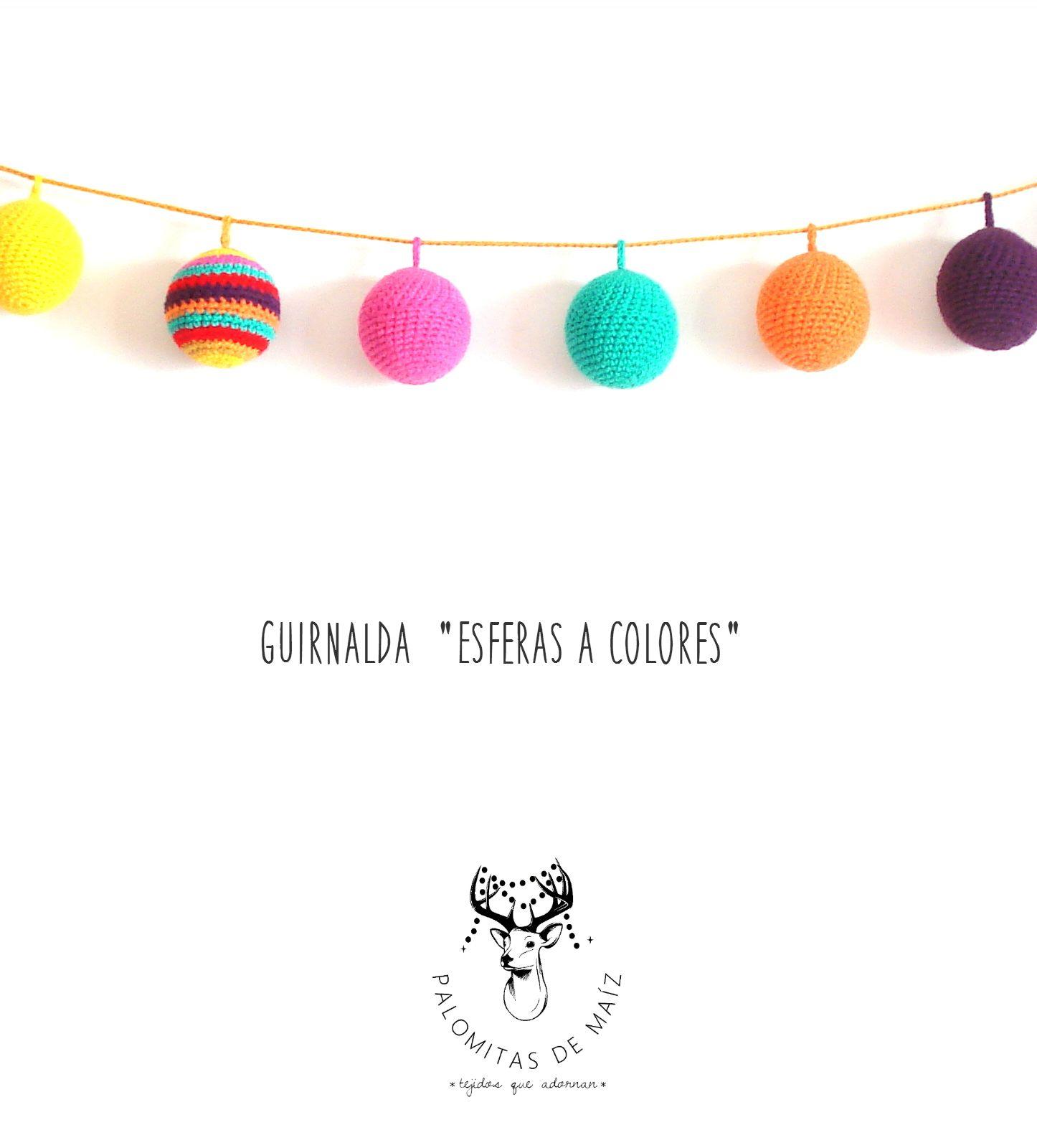 Guirnalda crochet Esferas rellenas | diy garlands crochet ...