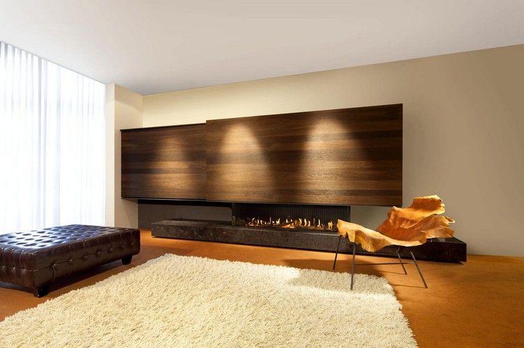 Moderne Wohnwand Mit Kamin  Heldaanhuis