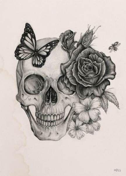 Tattoo hip flower sugar skull 44 ideas