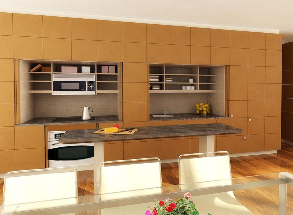 Stealth Kitchen  Keuken  Pinterest  Resource Furniture Kitchen Extraordinary Compact Modular Kitchen Designs Inspiration Design