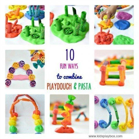 play dough and pasta art and craft - Yahoo Image Search Results