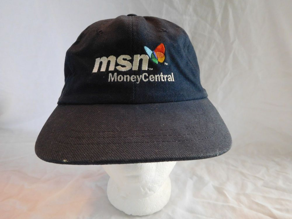 Vintage MSN Money Central Microsoft Network Baseball Cap Dad Hat Strapback   Unbranded 866155018889