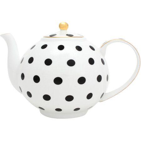 Mit dieser Teekanne können Sie nicht nur köstliche Heißgetränke servieren, durch das Polkadot-Motiv wird sie zu einem Hingucker auf jedem Tisch.