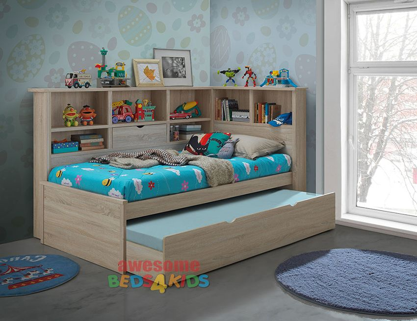 Kids Bed With Trundle Balllini Single
