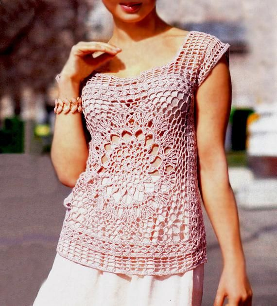 Sexy crochet tunic PATTERN, beach crochet tunic PDF, casual crochet tunic, CHART and basic instructions in English, chart rows not written #crochettunicpattern