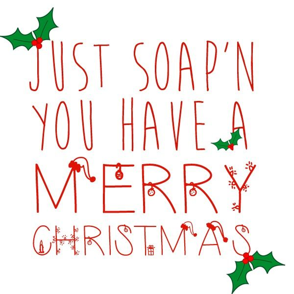 christmas gift ideas day 4 bath and body works soap with the fun saying just soap n you have a merry christmas