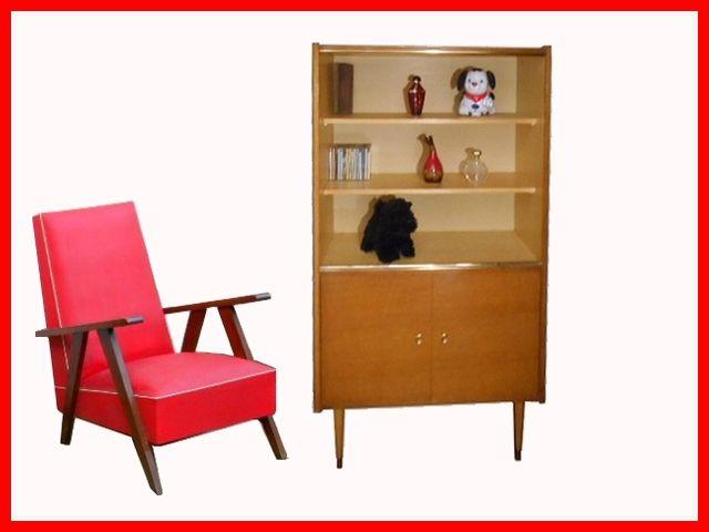 BIBLIOTHEQUE VITRINE ETAGERE VINTAGE meubles design vintage