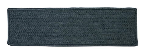 At Home Indoor Outdoor Rectangle Braided Stair Tread H041 Lake Blue Tntcommodities Com Stair Treads Stair Tread Rugs Black Stairs