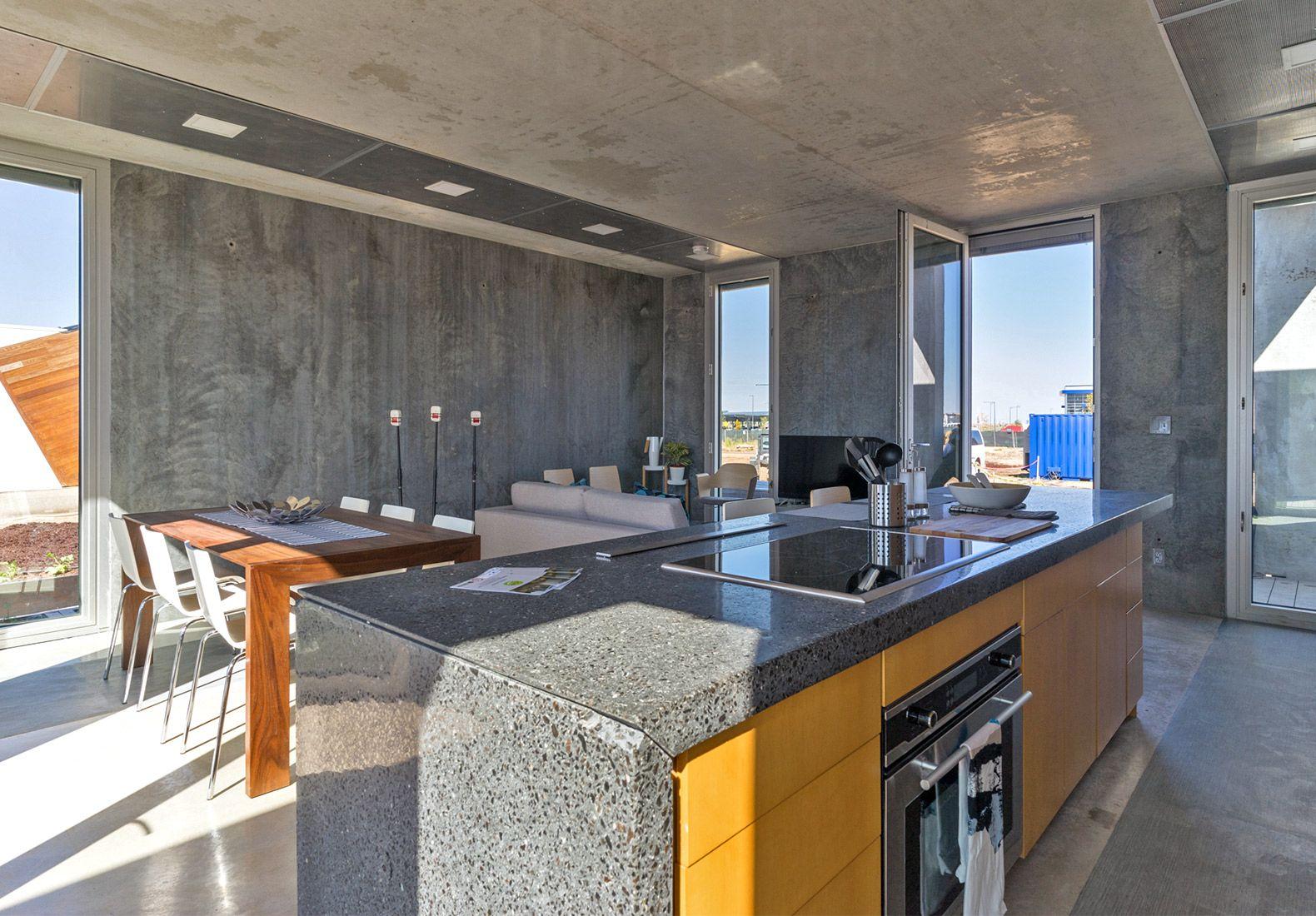 Crete House, Washington University Solar Decathlon, Prefabricated Concrete, Concrete  Homes, Solar Decathlon