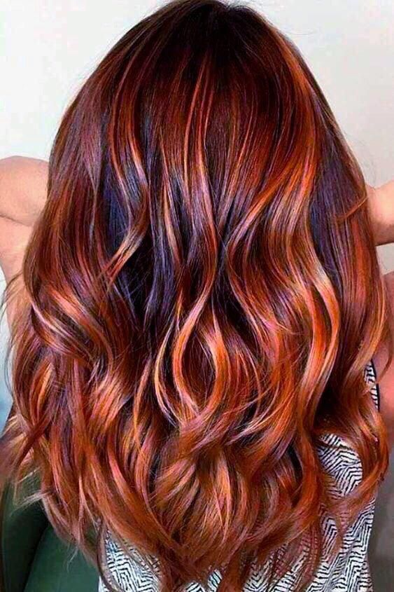 These Long Auburn Balayage Truly Are Stunning Longauburnbalayage Red Balayage Hair Copper Red Hair Red Ombre Hair