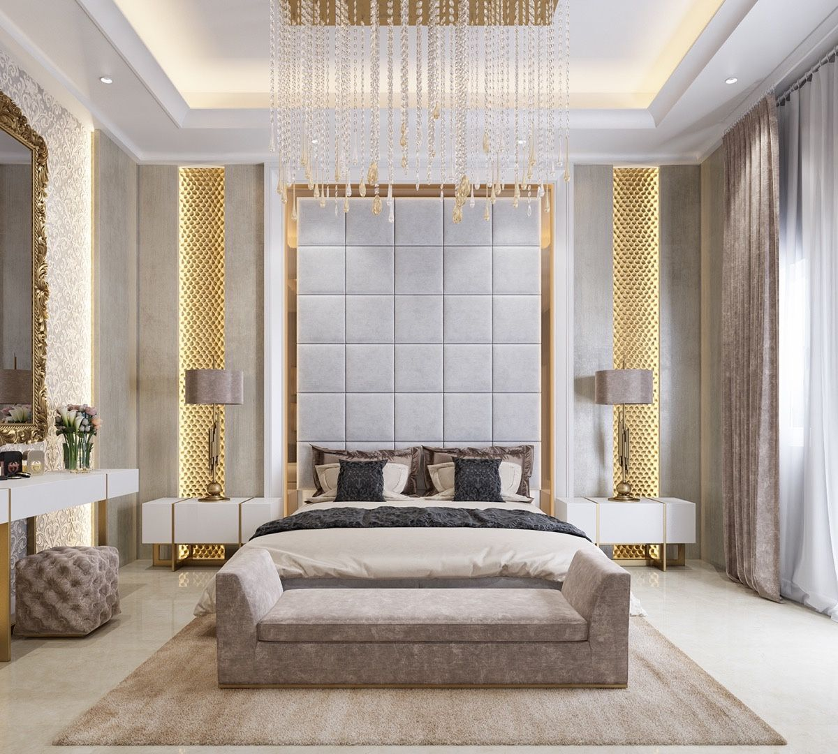 Stylish Bedroom Design For Your Future Home || Get Relaxed In One Of The  Finest