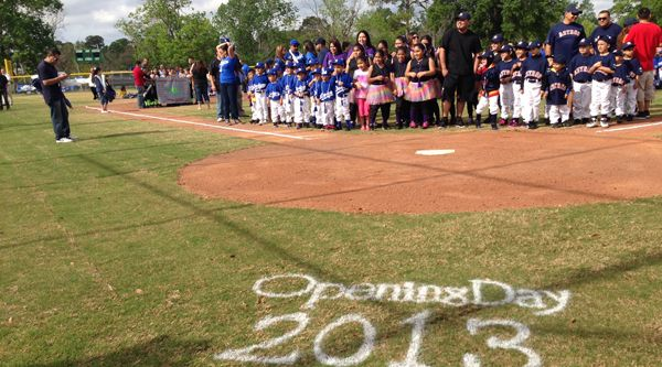 The Astros Foundation And Calpine Corporation Celebrated The Opening Of Two Newly Revitalized Houston Youth Baseball Field Youth Baseball Baseball Field Fulton