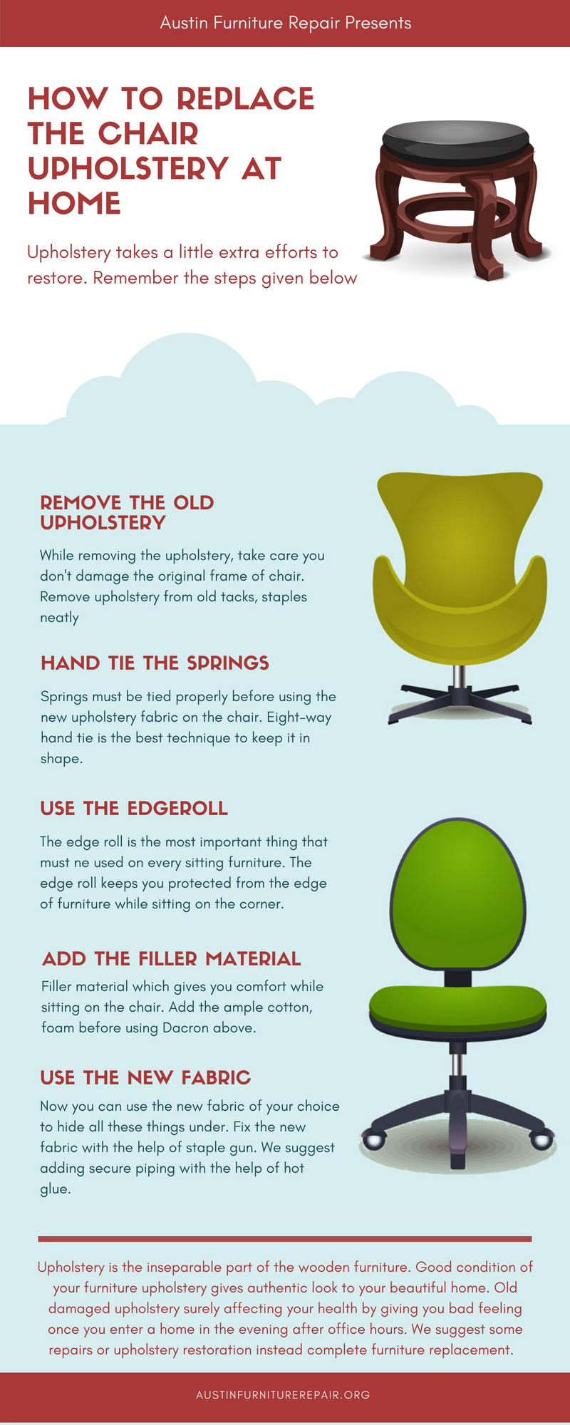 Upholstery is the inseparable part of the wooden furniture good