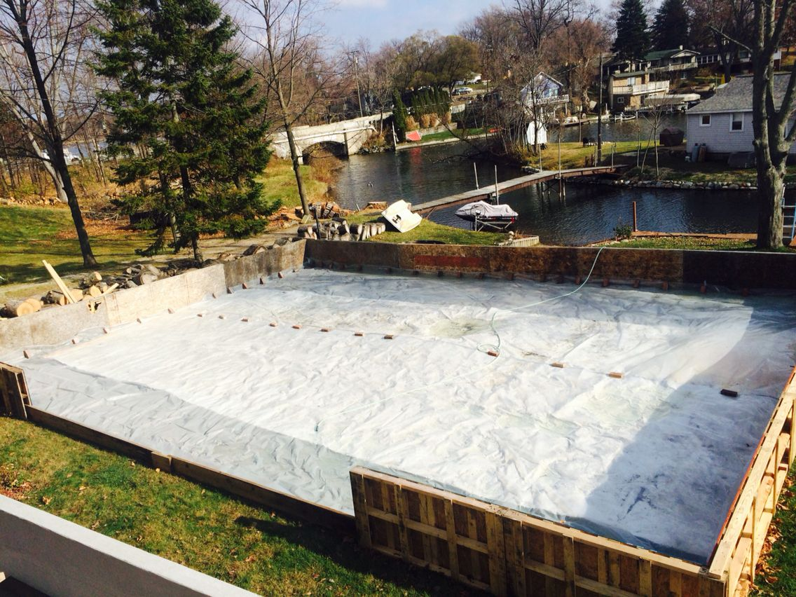 pallet ice rink let the flooding begin sports pinterest