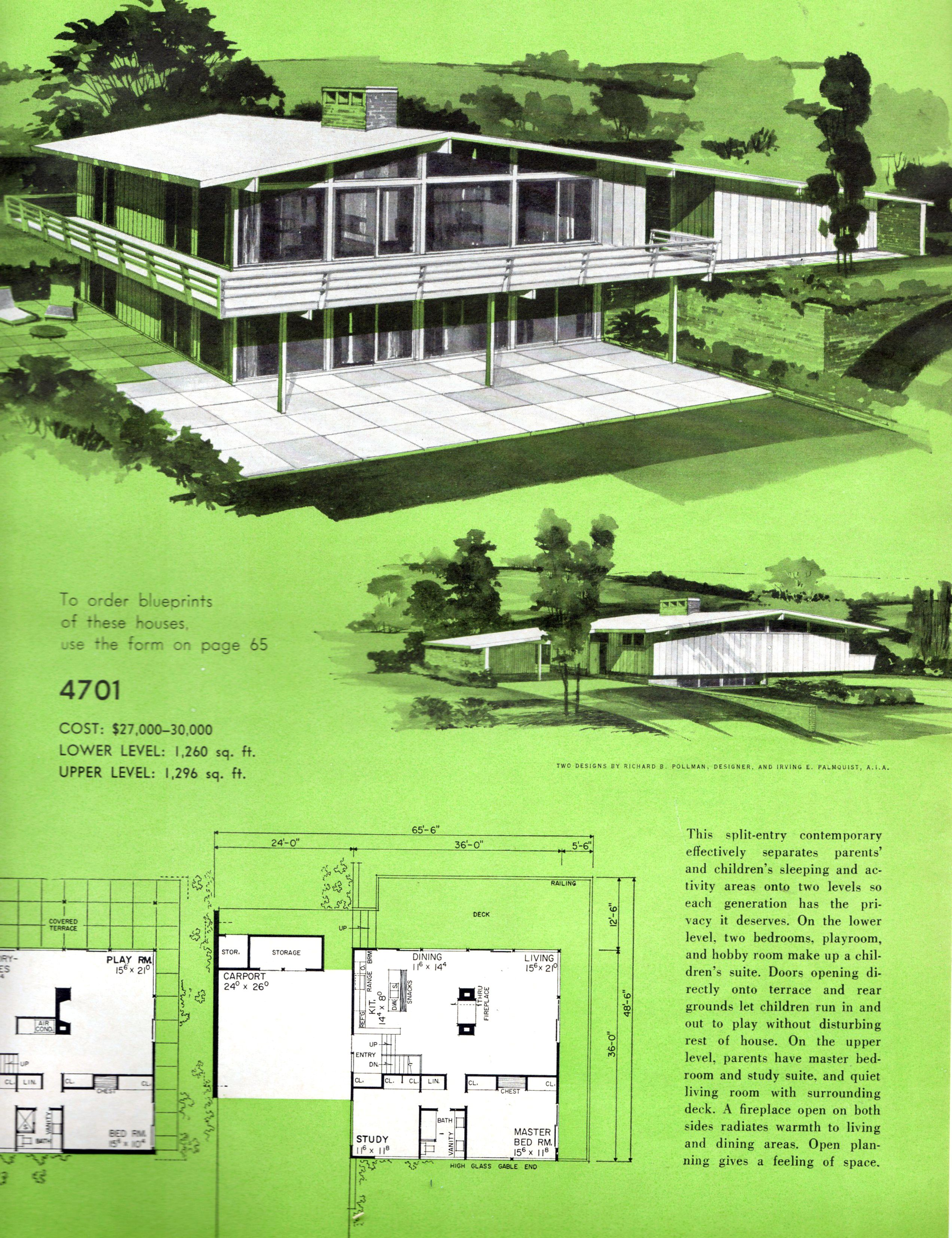 House Mid Century Modern house architectural