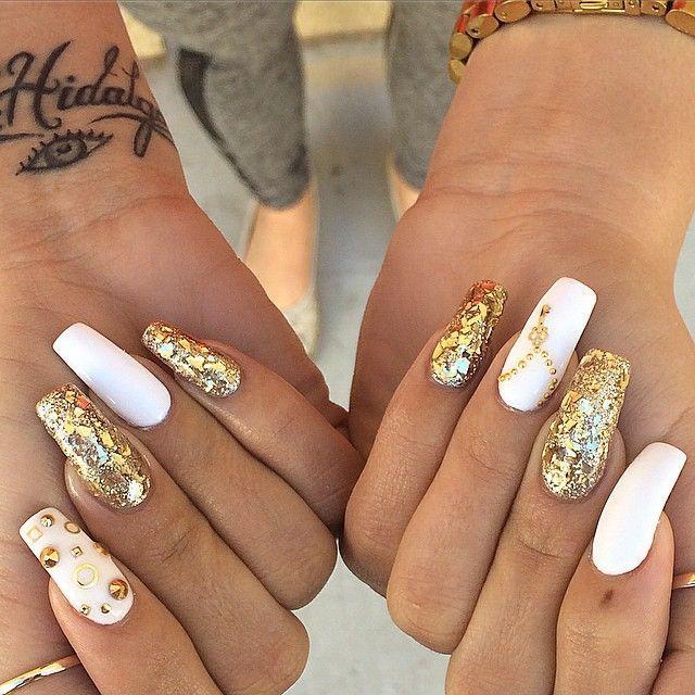⚜ luxurynails ⚜   Nail Tips   Nails, Gold nails, Nail art